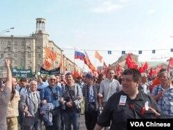 5月6日莫斯科反普京集会 (美国之音白桦)