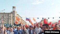 5月6日在莫斯科舉行的反普京集會
