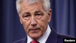Bộ trưởng Quốc phòng Hoa Kỳ Chuck Hagel. REUTERS/Yuri Gripas