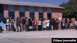 Long voting queue in captured recently in Bulawayo