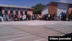 Long voting queue in Bulawayo