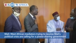 VOA60 Africa - West African mediators trying to resolve Mali's political crisis are calling for a power-sharing government
