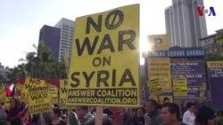 Manifestaciones en Los Angeles por ataque en Siria