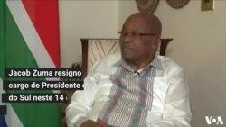 Presidente da África do Sul, Jacob Zuma, renuncia