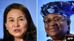世界贸易组织总干事候选人俞明希(左)和伊维拉(右)。