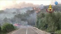 Sardinya'daki Yangın Söndürme Çalışmalarına AB'den Destek