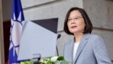 FILE - President Tsai Ing-wen speaks at the Taipei Guest House, in Taipei, Taiwan, May 20, 2020. (Taiwan presidential office photo)