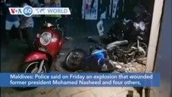 VOA60 World - Maldives: Former president Mohamed Nasheed injured in bomb blast