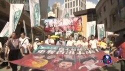 香港主权移交纪念日举行民主大游行