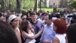 Ցույց Բաղրամյան փողոցում․ Ակտիվիստներին արգելվեց Ազգային Ժողովի բակում քննարկում անցկացնել