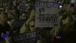 巴塞羅納數萬人示威要求釋放分離派領袖