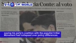 VOA60 World - Italy: Interior Minister Matteo Salvini of the right wing League party calls for a new election