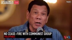 Philippines President Ends Cease-Fire