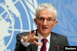 FILE - Mark Lowcock, U.N. undersecretary-general for humanitarian affairs.