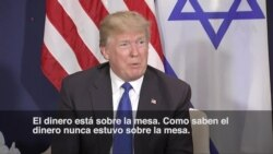 """Trump: El dinero para ayudar a Palestina """"está sobre la mesa"""""""