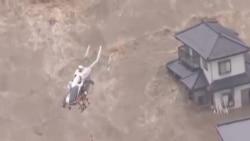 日本暴雨成災 數萬人撤離
