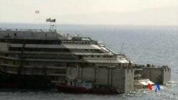 2014-07-13 美國之音視頻新聞: 意大利對失事郵輪展開新的救援行動