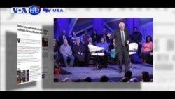 Ông Sanders đã thể hiện thái độ đối đầu hơn trước bà Clinton (VOA60)