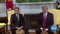 Trump Meets Brazil Counterpart Dubbed 'Trump of the Tropics'