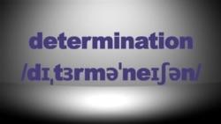 Học tiếng Anh qua tin tức - Nghĩa và cách dùng từ Determination (VOA)