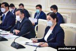 Uzbek government meeting on COVID-19 crisis, in Tashkent, July 14, 2020. (Courtesy - president.uz)
