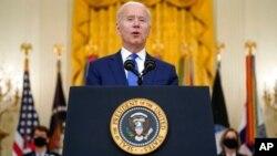 VaJoe Biden vachitaura pazuva rekucherechedza vanhukadzi, re International Women's Day