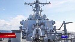 Tàu chiến Mỹ tuần tra gần Đá Vành Khăn ở Trường Sa