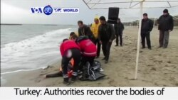 VOA60 World PM - 36 Migrants Killed in 2 Boat Disasters Off Turkey