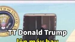TT Donald Trump lên máy bay tới Hà Nội