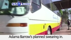 VOA60 Africa - Tourists flee the Gambia as President Yahya Jammeh declares state of emergency