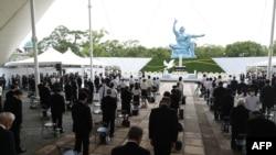 9일 일본 나가사키 평화공원에서 원폭 76주년을 맞나 희생자 위령제가 열렸다.