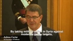 Carter, Lavrov Comment on Syria Strikes