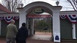 华盛顿故居的新公民入籍仪式