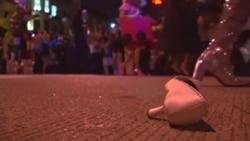美国万花筒:华府举行变装皇后赛跑活动