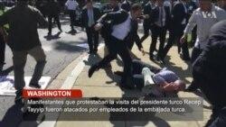 Protesta frente a la embajada turca termina con violencia