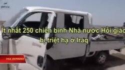 Ít nhất 250 chiến binh Nhà nước Hồi giáo bị triệt hạ ở Iraq