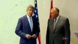 2014-06-22 美國之音視頻新聞: 美國國務卿克里突訪埃及