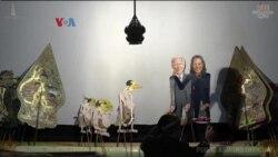 Wayang Joe Biden dan Kamala Harris Tampil di Solo