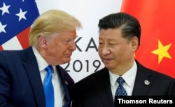 Tổng thống Donald Trump và Chủ tịch Tập Cận Bình tại G20, Nhật, 2019.