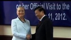2012-07-11 美國之音視頻新聞: 克林頓與老撾領導人討論越南遺留問題