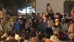 香港七一万人游行 批北京压缩港人民主自由