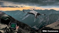 A Turkish-made Kargu drone is seen in an illustration photo.