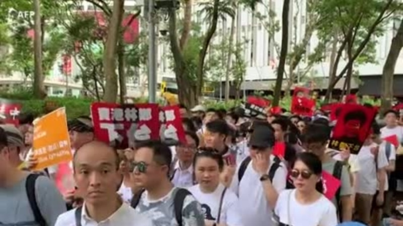 Forte mobilisation à Hong Kong contre l'extradition de suspects vers la Chine