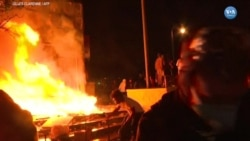 Minneapolis'te Öfkeli Protestocular Karakol Yaktı