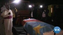 Le cercueil d'Etienne Tshisekedi arrive à Kinshasa