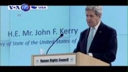 Ông Kerry bênh vực Israel trước Hội đồng Nhân quyền LHQ (VOA60)