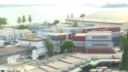 Le port d'Abidjan tourne au ralenti