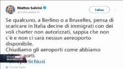 Čarter letovi sa imigrantima neće biti prihvaćeni na italijanske aerodrome