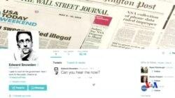 2015-09-30 美國之音視頻新聞: 前NSA合約僱員斯諾登開通推特