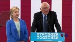 长久期待后 桑德斯终于宣布支持克林顿